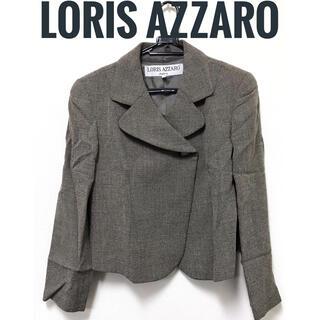 アザロ(AZZARO)のLORIS AZZARO【美品】ハートボタン 長袖 ツイード調 ジャケット(テーラードジャケット)