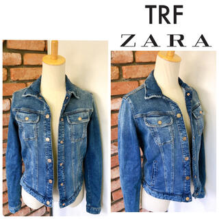 ザラ(ZARA)の3回 ZARA TRAFALUC  ザラ デニム ジャケット ブルー系 Sサイズ(Gジャン/デニムジャケット)