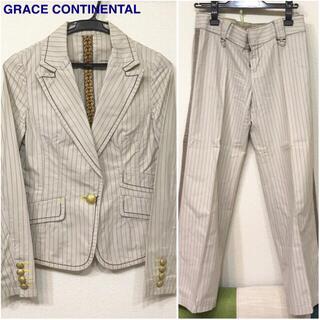 グレースコンチネンタル(GRACE CONTINENTAL)のGRACE CONTINENTAL パンツスーツ 長袖 ジャケット ストライプ(スーツ)