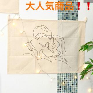 スリーコインズ(3COINS)の【再入荷】大人気 韓国 儚げインテリア ファブリックポスター タペストリー(インテリア雑貨)