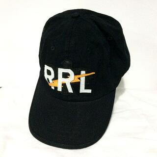 ダブルアールエル(RRL)のRRL ダブルアールエル RRLロゴ ボール キャップ ブラック(キャップ)