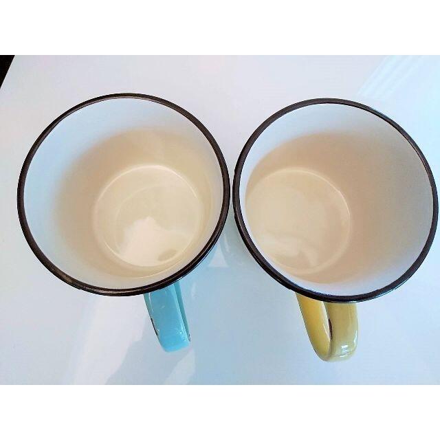 quatre saisons(キャトルセゾン)のキャトルセゾン購入 優しい色味が可愛いホーロー風マグカップ 色違い2点セット インテリア/住まい/日用品のキッチン/食器(グラス/カップ)の商品写真