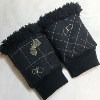 ミナペルホネン(mina perhonen)の3.少し大きめ ミナペルホネン ハンドウォーマー ハンドメイド choucho(手袋)