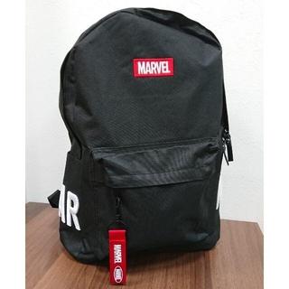 マーベル(MARVEL)の7656 MARVEL マーベル 刺繍ロゴ リュック バックパック ブラック(バッグパック/リュック)