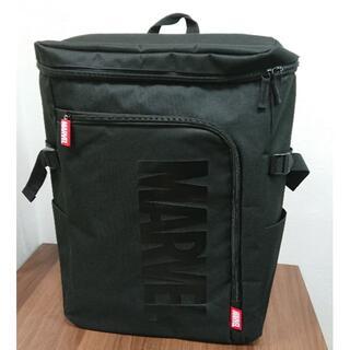 マーベル(MARVEL)の7657 MARVEL マーベル スクエアリュック バックパック ロゴ ブラック(バッグパック/リュック)