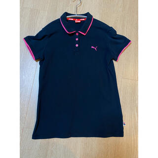 プーマ(PUMA)のプーマ ポロシャツ レディースピンクブラック(ポロシャツ)