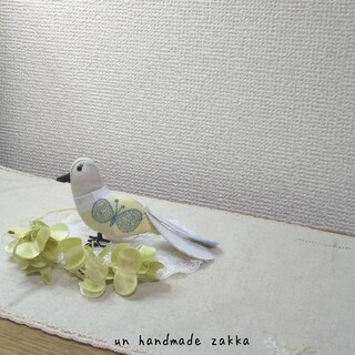 ミナペルホネン(mina perhonen)の☆現品☆⚮̈ハンドメイド⚮̈小鳥の置き物 オブジェ 人形③(人形)