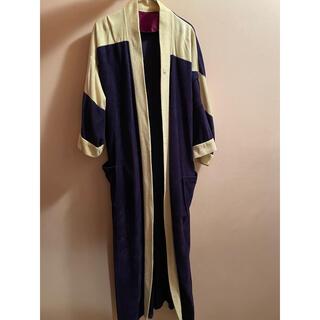 クリスチャンディオール(Christian Dior)のDior ベロア ガウン ロングコート ツートンカラー シガーポケット(その他)