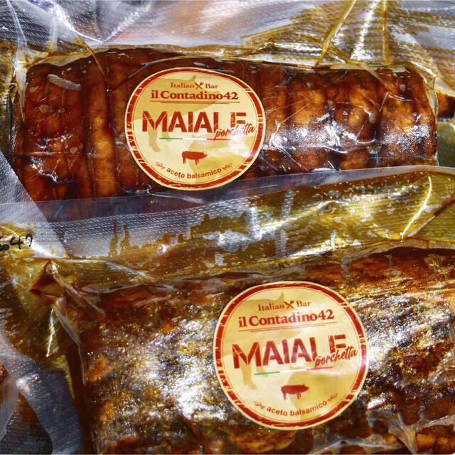 豚バラ肉のこっさりバルサミコチャーシュー 無添加 icd42オリジナル 自家製 食品/飲料/酒の加工食品(その他)の商品写真