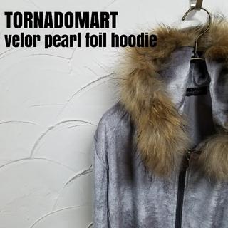 トルネードマート(TORNADO MART)のTORNADOMART/トルネードマート ベロア パール フォイル パーカー(パーカー)