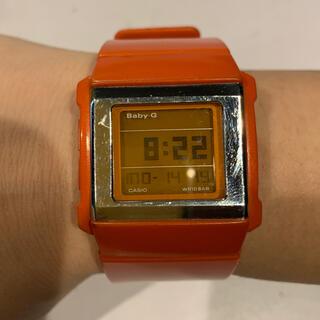 ベビージー(Baby-G)のCASIO Baby-G 腕時計 オレンジ 稼働品(腕時計)