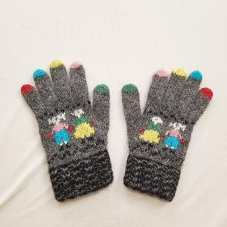 ビームスボーイ(BEAMS BOY)のカラフル指 ウール 手袋 Wフェイス(手袋)