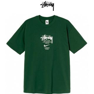ステューシー(STUSSY)のSTÜSSY / NIKE INTERNATIONAL TEE GREEN S(Tシャツ/カットソー(半袖/袖なし))