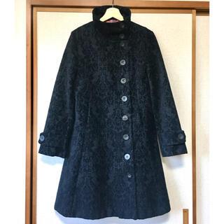 デシグアル(DESIGUAL)のDesigual デシグアル ジャガード織コート ブラック 42(ロングコート)