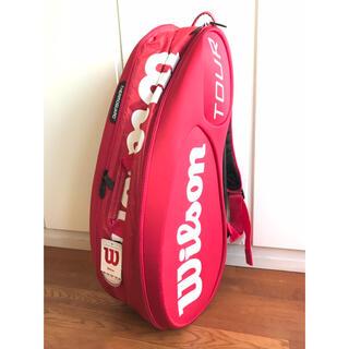ウィルソン(wilson)の【新品】Wilson/ウィルソン『ツアーバッグ』錦織圭モデル/レッド/テニス(バッグ)