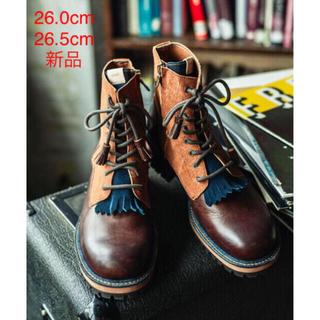 グラム(glamb)の今期新品/グラム glamb/グランジ系 レザーブーツ/26cm 26.5㎝/②(ブーツ)