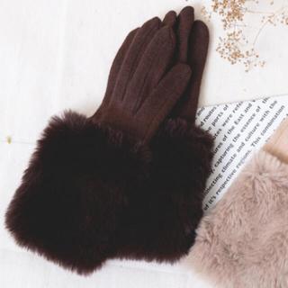 シマムラ(しまむら)のプチプラのあや PAファーツキテブクロ 手袋 アームカバー(手袋)