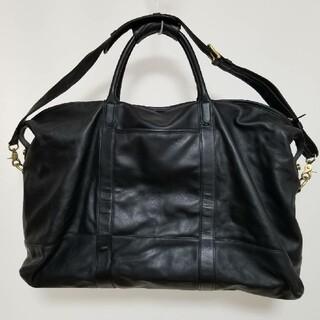 コーチ(COACH)の【 COACH 】レザーBlack Big Boston Bag 美品(ボストンバッグ)