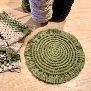 アクタス(ACTUS)のポットマット鍋敷きマクラメ編み(収納/キッチン雑貨)