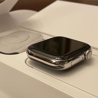 アップルウォッチ(Apple Watch)の保証期間内 apple watch シリーズ4 シルバーステンレス 44mm(腕時計(デジタル))
