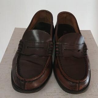 ハルタ(HARUTA)のハルタHARUTA★本革★25.5cm★茶色のローファー★ダークブラウン革靴(ドレス/ビジネス)