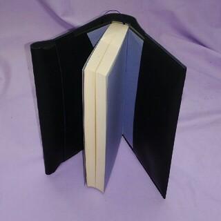 単行本ハードカバー用本革ブックカバー/黒スムースレザー R_23320(ブックカバー)
