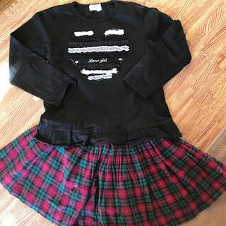 スカートとTシャツ 120(スカート)