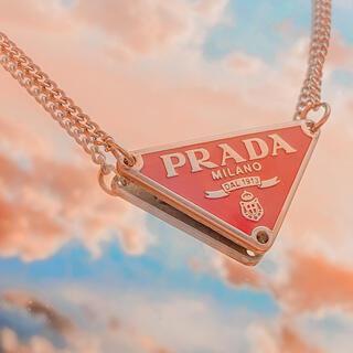 プラダ(PRADA)のプラダ ネックレス(ワインレッド)(ネックレス)