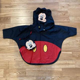 ディズニー(Disney)のミッキー ポンチョ レインコート カッパ(レインコート)