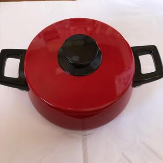赤鍋 昭和レトロポップ 未使用品(鍋/フライパン)