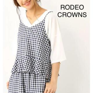 ロデオクラウンズ(RODEO CROWNS)の◇新品◇ ロデオクラウンズ ギンガムチェック キャミソール(キャミソール)