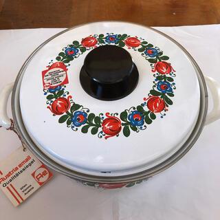 Austria email 昭和レトロポップ 未使用品(鍋/フライパン)