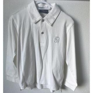 コムサイズム(COMME CA ISM)の美品 白 コムサ  長袖 ポロシャツ ブラウス 110  男の子 フォーマル(ブラウス)