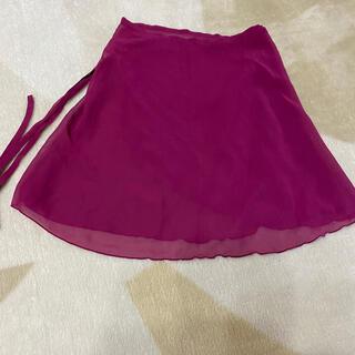 チャコット(CHACOTT)のmamakoさま専用 FREED 巻きスカートMサイズ ワインレッド 美品(ダンス/バレエ)
