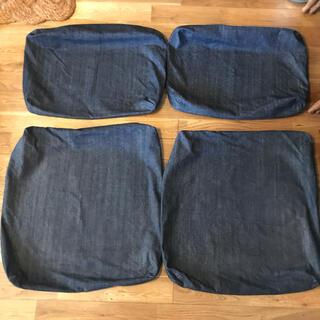 ムジルシリョウヒン(MUJI (無印良品))の専用✳︎無印✳︎綿デニムリビングでもダイニングでもつかえるソファチェア用カバー(ソファカバー)