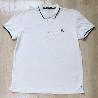 極美品!!4(LL)白 鹿の子編み 半袖ポロシャツ Burberry Black