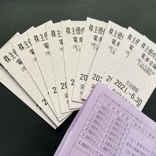 東武鉄道 株主優待乗車券 10枚(鉄道乗車券)