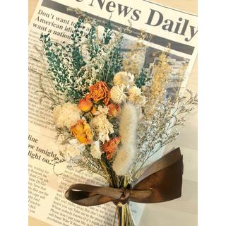ドライフラワー スワッグ イエロー ブーケ 花束 プレゼント(ドライフラワー)