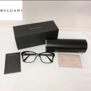ブルガリ(BVLGARI)のブルガリ 4080-B-F 501 眼鏡 レンズ無し フレームのみ 黒縁メガネ(サングラス/メガネ)