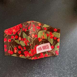 ピンクハウス(PINK HOUSE)のL チェリー柄 抗菌消臭インナーマスク(その他)