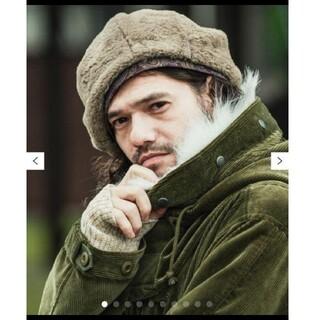 グラム(glamb)の未使用 タグ付き glamb ベレー帽 Roch beret black(ハンチング/ベレー帽)
