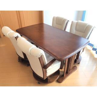 直接引き取り¥8,000 ダイニングセット テーブル&チェア4脚(ダイニングテーブル)