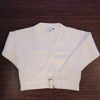ダブルスタンダードクロージング(DOUBLE STANDARD CLOTHING)のダブルスタンダードクロージング Sov.ベルト付ニットカーディガン オフホワイト(ニット/セーター)