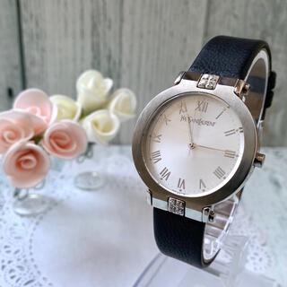 サンローラン(Saint Laurent)の【電池交換済】Yves Saint Laurent 腕時計 シルバー ラウンド(腕時計(アナログ))