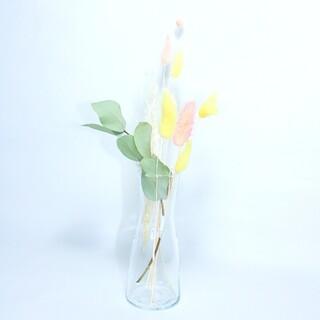 イケア(IKEA)のポポラスユーカリ&ラグラス(花瓶付き)(ドライフラワー)