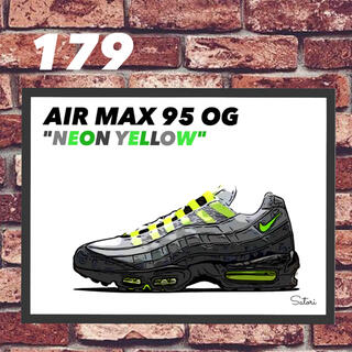 AIR MAX 95 OG NEON コミック アート ポスター 額付き 1枚(スニーカー)