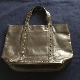 フランス製VANESSABRUNOミニトートバッグこげ茶色