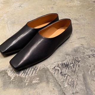 ドゥロワー(Drawer)のtherow ザロウ シューズ 36 ブラック(ローファー/革靴)