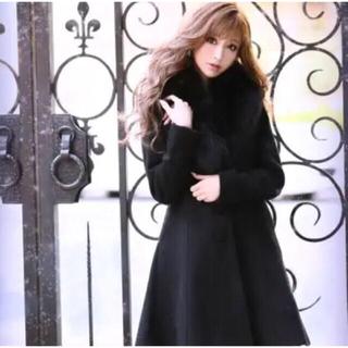エミリアウィズ(EmiriaWiz)のエミリアウィズ  コート ふわふわ 試着のみ Sサイズ ブラック 黒 美品(ダッフルコート)