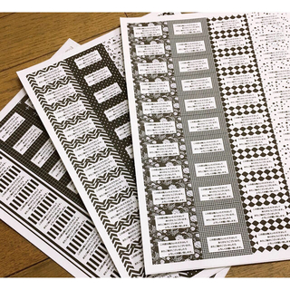◆モノトーン①◆サンキューシール3シート132枚(カード/レター/ラッピング)